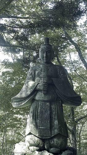 Ontake Shrine on the Nakasendo trail in the Kiso Valley (Japan) between Yabuhara and Narai via Torii Pass #2