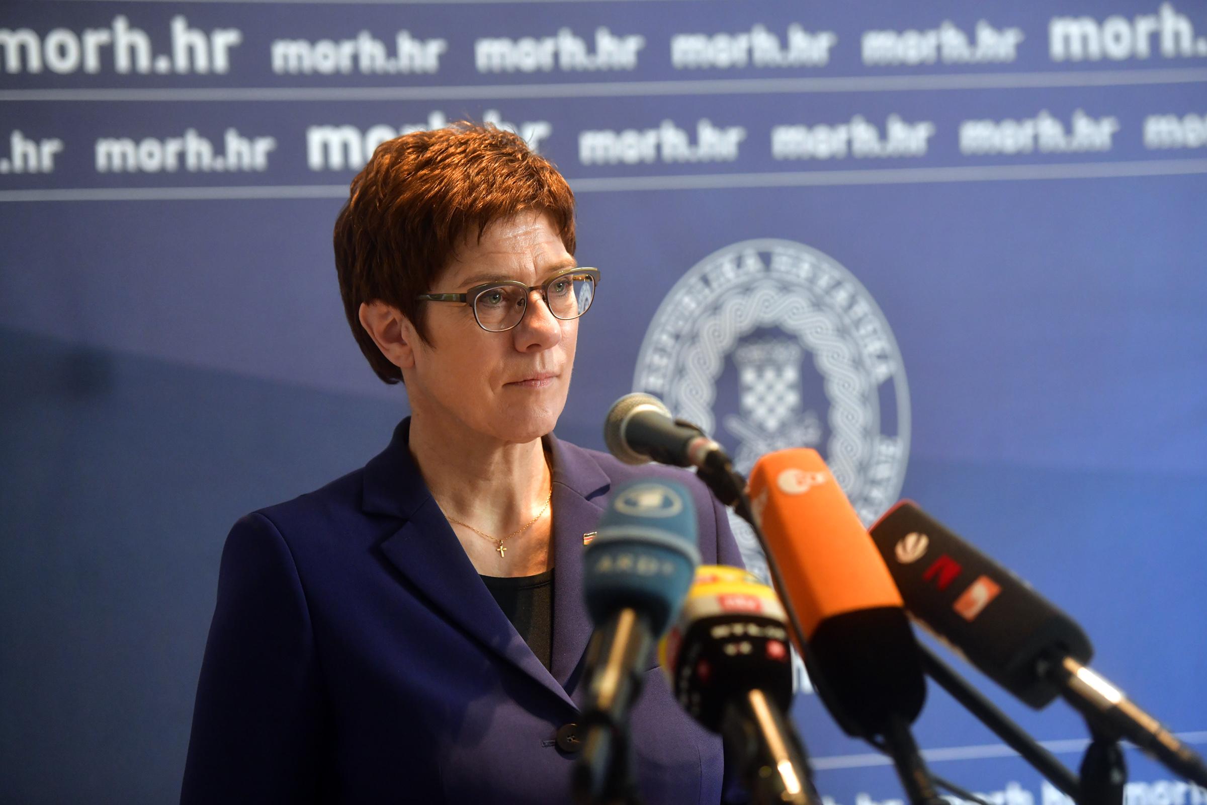 Krstičević s njemačkom ministricom obrane Kramp-Karrenbauer