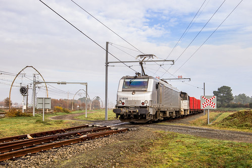 01 décembre 2019 BB 27180 Train 467456 Rion-des-Landes -> Rivesaltes Rion-des-Landes (40)