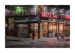 Katz's Deli at night