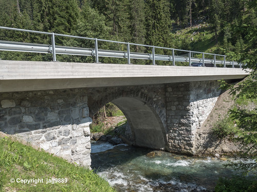 PLE130 Schanfiggerstrasse Road Bridge over the Plessur River, Litzirüti, Canton of Grisons, Switzerland