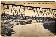 G.T.R. BRIDGE, BATTLE RIVER, WAINWRIGHT, ALBERTA