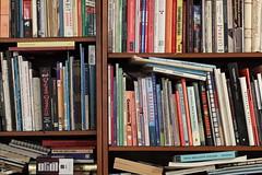 Bookshelf sharpness test - 135mm f/5.6