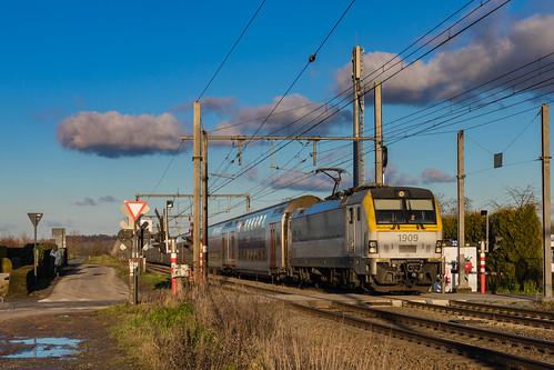 NMBS 1909 + M6 rijtuigen | P 8307 | 's-Herenelderen