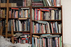 Bookshelf sharpness test - 70mm f/2.8