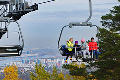 Russia, Krasnoyarsk - Shortly before chairlift arrival of Stolby Nature Reserve - September 2018