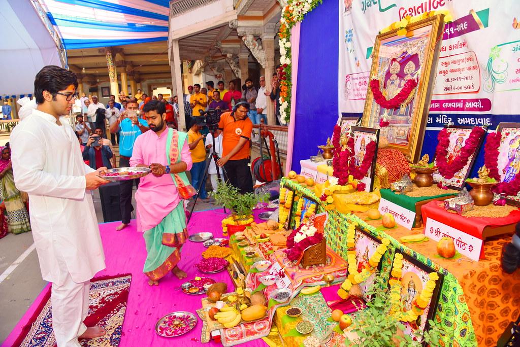 Maha Pooja at Kalupur Mandir