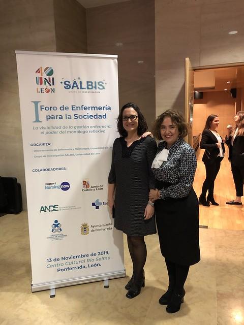 Pilar Marqués y Elena Fernández directoras del I Foro de Enfermería para la Sociedad