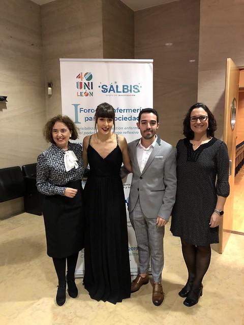 Presentadores del Foro Lara y Marcos con Pilar y Elena