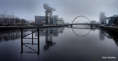 fog lifting Glasgow Scotland