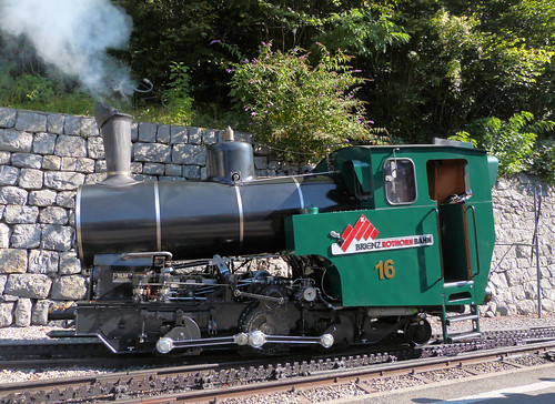 Brienz Rothorn Bahn, Switzerland - No. 16 Built in 1992 shunting at Brienz Station on the 4th September 2019