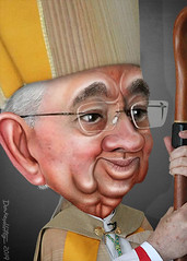 Archbishop Gómez - Caricature