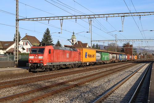 DB Cargo 185 116-1 Containerzug, Rupperswil