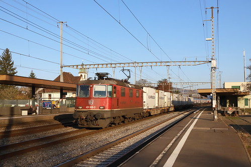 SBB Cargo Re 420 306-3 Migros Kühlzug, Rupperswil