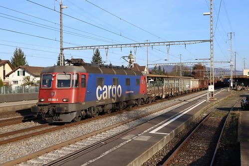 SBB Cargo Re 620 060-4 Tavannes, Güterzug Rupperswil