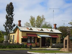 Apsley on the SA Victorian border. The old Post Office and War Memorial.