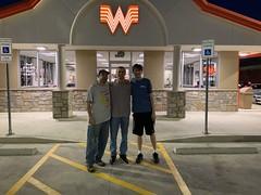 Me Jason and Gustav at Whataburger