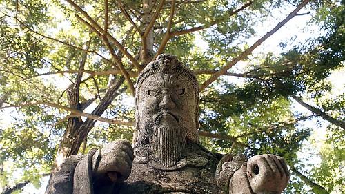 Ontake Shrine on the Nakasendo trail in the Kiso Valley (Japan) between Yabuhara and Narai via Torii Pass #7
