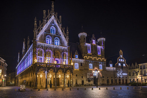 Town Hall in Mechelen yesterday evening