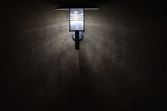 Lowlight lamp on the wall
