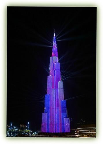 light show - Burj Khalifa
