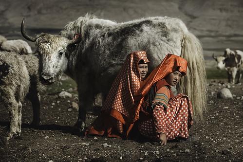 Kyrgyz girls in Seki, Pamir, Afghanistan.