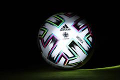EURO 2020 official ball, Uniforia, dark background