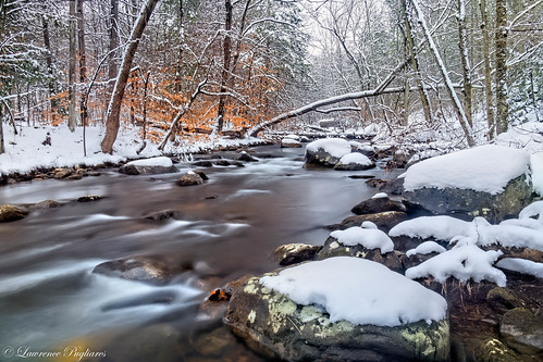 Winter stream - Harriman State Park, New York