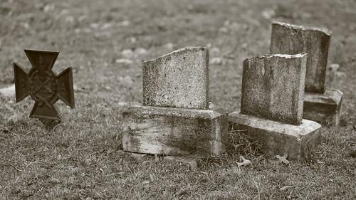 Broken gravestones of Confederate Soldiers