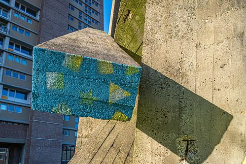 Concrete Sculpture in Evere, Brussels