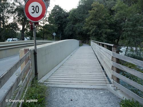 PLE490 Au Bridge over the Plessur River, Chur, Canton of Grisons, Switzerland