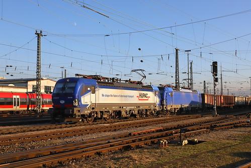WRS 193 490-0 und 193 492-6 Zuckerrübenzug, Basel Bad Bhf