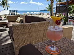 Cocktails at Holland House Hotel, Philipsburg, St Maarten, Nov 2019
