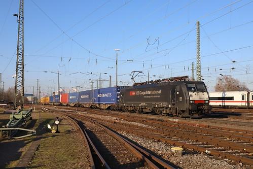 SBBCI ES 64 F4-082 P&O Ferrymaster KLV, Basel Bad Bhf