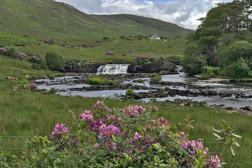 Aasleagh Falls located a short distance from Leenane village, just north of the Galway/Mayo border, Ireland