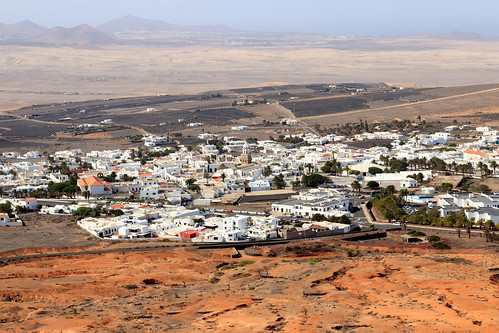 Teguise seen from above. Lanzarote.