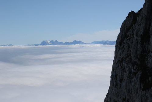 A Sea of Cloud looking to the Swiss Alps.