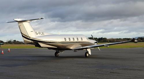 Pilatus PC-12/47E G-FLXI seen at Dublin Weston Airport EIWT