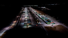 NS Rossville Yard at Night