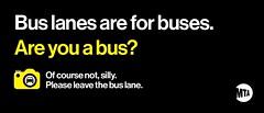 Bus Lane Awareness Campaign
