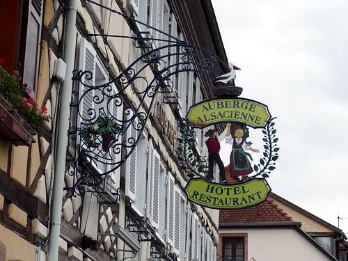Nasenschild in Eguisheim