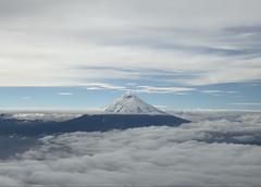 Downhill Mountain Biking on Cotopaxi Volcano at 4,620 meters (15,157 ft), Park in Parque Nacional Cotopaxi, Ecuador.