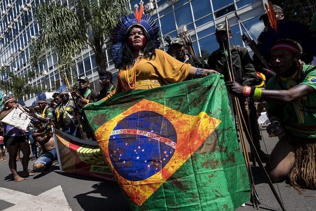 Liderança Sônia Guajajara divulgou informação em primeira mão nas redes sociais - Créditos: Foto: Mídia Ninja