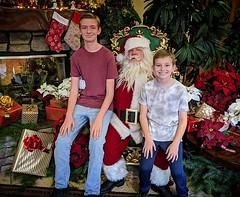 Santa Picture #christmas #santa #large #children #presents #handlebarmustache