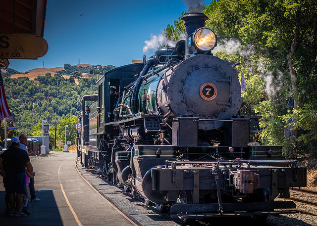 The Skookum at Arriving at the Sunol Station