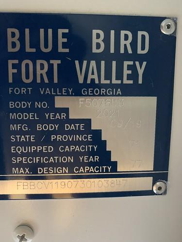 2021 Blue Bird Vision