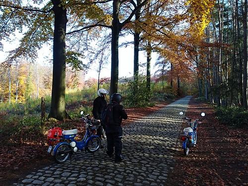 A mobylette dans le Brabant Wallon