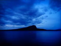 Mt. Kineo at night