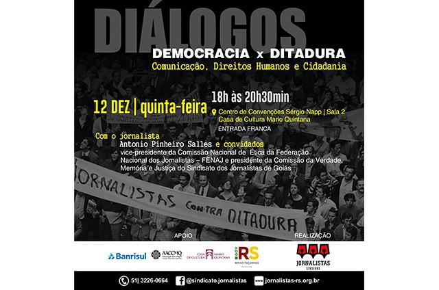 Debate contará com a presença do ex-preso político e e vice-presidente da Comissão Nacional de Ética/FENAJ, Antônio Pinheiro Salles  - Créditos: Reprodução