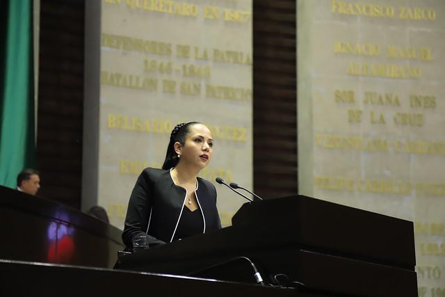 16/01/2019 En tribuna Dip. Juanita Guerra Mena